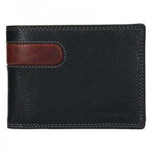 Pánská kožená peněženka SendiDesign Amarel – černo-hnědá