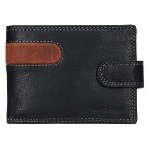 Pánská kožená peněženka SendiDesign Martin – černo-hnědá