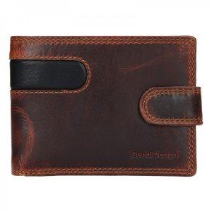 Pánská kožená peněženka SendiDesign Martin – hnědo-černá
