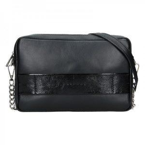 Trendy dámská kožená crossbody kabelka Facebag Ninas – černá