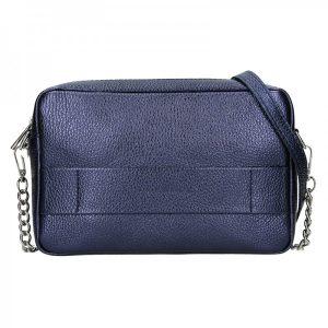 Trendy dámská kožená crossbody kabelka Facebag Ninas – modrá