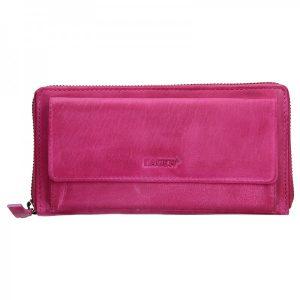 Dámská kožená peněženka Lagen Maria – růžová