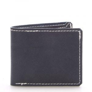 Luxusní modrá kožená peněženka modrá