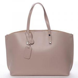 Dámská kožená kabelka tmavá starorůžová – ItalY Jordana růžová