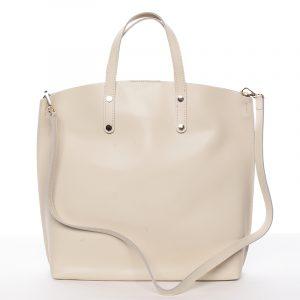 Dámská kožená kabelka do ruky světle béžová – ItalY Sydney béžová