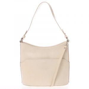 Béžová kožená kabelka přes rameno ItalY Lydia béžová