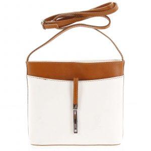 Dámská kožená crossbody kabelka béžovo hnědá – ItalY Aneta béžová