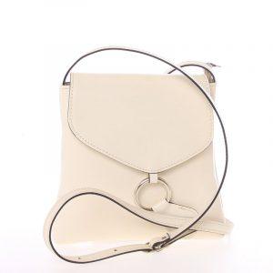 Dámská kožená crossbody kabelka béžová – ItalY Saffie béžová