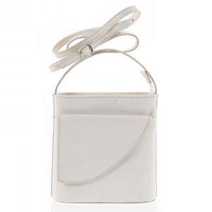 Dámská kožená crossbody kabelka béžová – ItalY Cora Light béžová