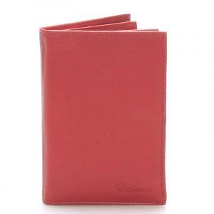 Kožená dokladovka červená – Delami 8220 červená