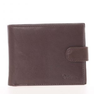 Pánská kožená tmavě hnědá peněženka – Delami 8945 hnědá