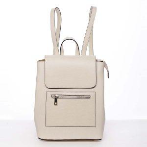 Dámský městský batoh kožený světle béžový – ItalY Bernadea béžová