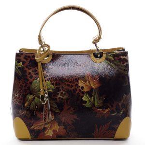 Originální dámská kožená kabelka podzimní žlutá – ItalY Mattie žlutá