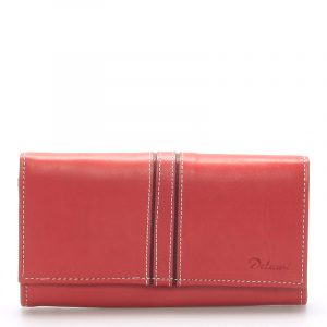 Dámská kožená peněženka červená – Delami Lestiel červená