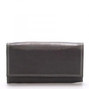 Dámská kožená peněženka černá – Delami Guara černá