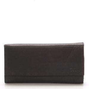Velká kožená černá peněženka – Delami Juse černá