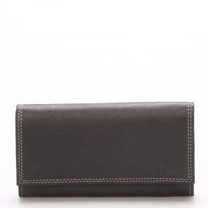 Dámská kožená peněženka černá – Delami Naal černá