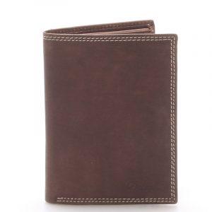 Pánská kožená peněženka hnědá – Delami Tui hnědá