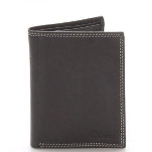 Pánská kožená peněženka černá – Delami Matt černá