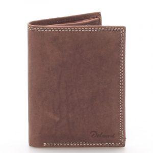 Pánská kožená peněženka hnědá – Delami Matt hnědá