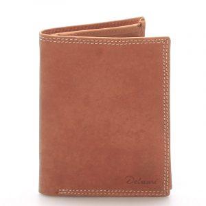 Pánská kožená peněženka světle hnědá – Delami Matt hnědá