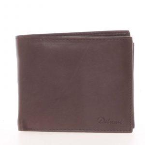 Pánská kožená peněženka hnědá – Delami Five hnědá