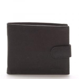 Pánská kožená černá peněženka – Delami 9371 černá