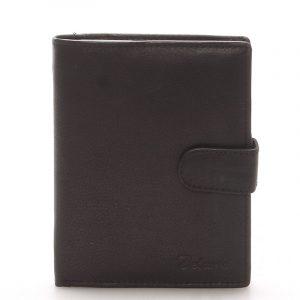 Pánská kožená černá peněženka – Delami 8703 černá
