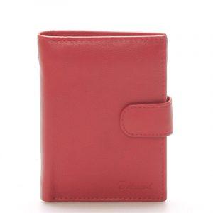 Pánská kožená červená peněženka – Delami 8703 červená