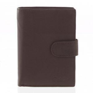 Pánská kožená hnědá peněženka – Delami 8703 hnědá