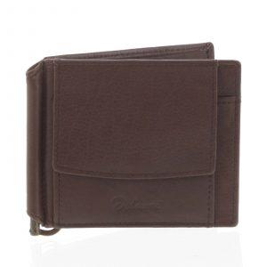 Malá kožená hnědá peněženka – Delami 8697 hnědá
