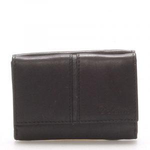 Kožená černá peněženka – Delami 9386 černá