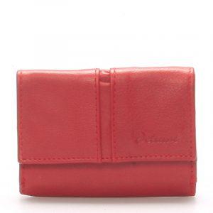 Kožená červená peněženka – Delami 9386 červená