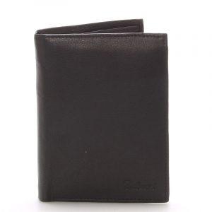 Pánská kožená černá peněženka – Delami 8229 černá