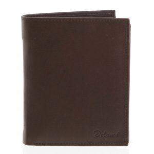 Pánská kožená hnědá peněženka – Delami 8229 hnědá
