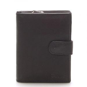 Kožená peněženka černá – Delami 101 černá