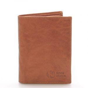 Kvalitní kožená světle hnědá peněženka – Sendi Design 45 hnědá
