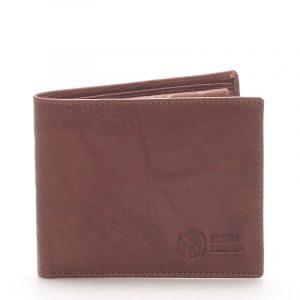 Elegantní kožená hnědá peněženka – Sendi Design 46 hnědá