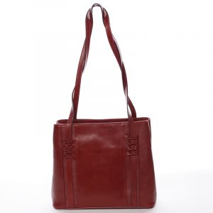 Červená kožená kabelka přes rameno – ItalY Zosima červená
