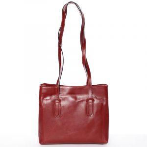 Červená kožená kabelka přes rameno – ItalY Yura červená