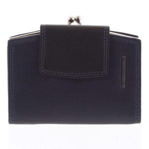 Luxusní dámská kožená peněženka modro černá – Bellugio Armi modrá