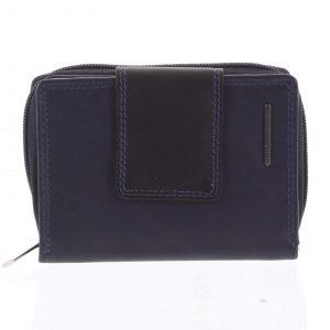Dámská kožená peněženka modro černá – Bellugio Eurusie modrá