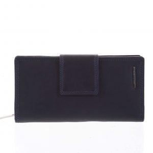 Velká dámská kožená peněženka modrá – Bellugio Glykys modrá