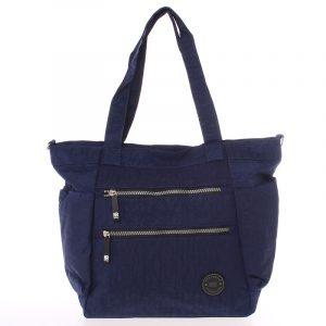 Moderní látková sportovní modrá taška – New Rebels Brielle modrá