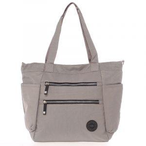Moderní látková sportovní šedá taška – New Rebels Brielle šedá