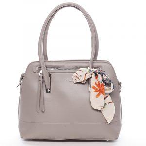 Elegantní trendy šedá kabelka do ruky – David Jones Felicity šedá