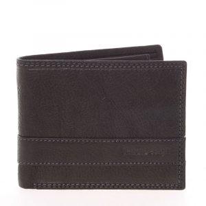 Lehká pánská kožená peněženka černá – SendiDesing Ctix černá