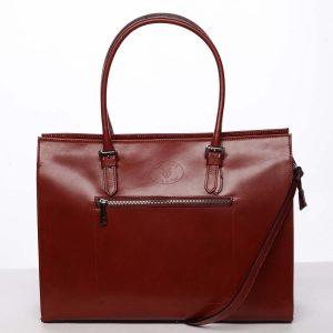 Moderní a elegantní dámská kožená kabelka červená – ItalY Madelia červená