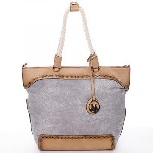 Jedinečná dámská kabelka přes rameno šedá – MARIA C Janelle šedá