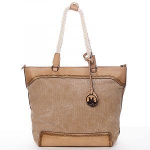 Jedinečná dámská kabelka přes rameno hnědá – MARIA C Janelle hnědá